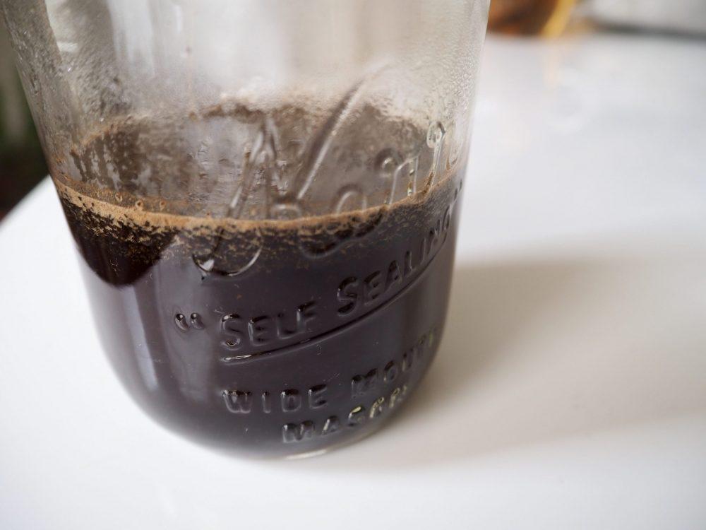 Hot coffee in a Mason jar scaled