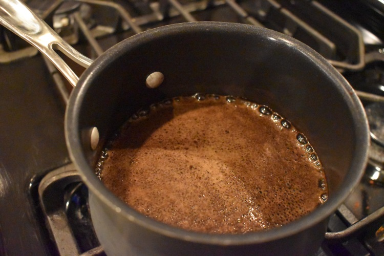 Making coffee on the stove